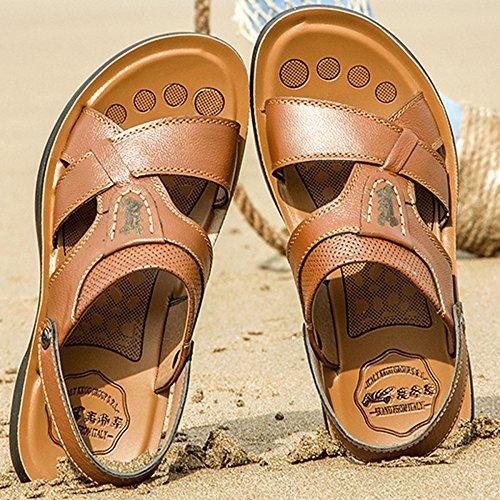 del Caminar Aire Al De Libre Agua Zapatillas De Abierta Sandalias Atléticas De Playa Hombres En Chanclas SHANLY Punta Piscina Yellow Tamaño Zapatos De Los Verano Deslizamiento Gran wAETnpq