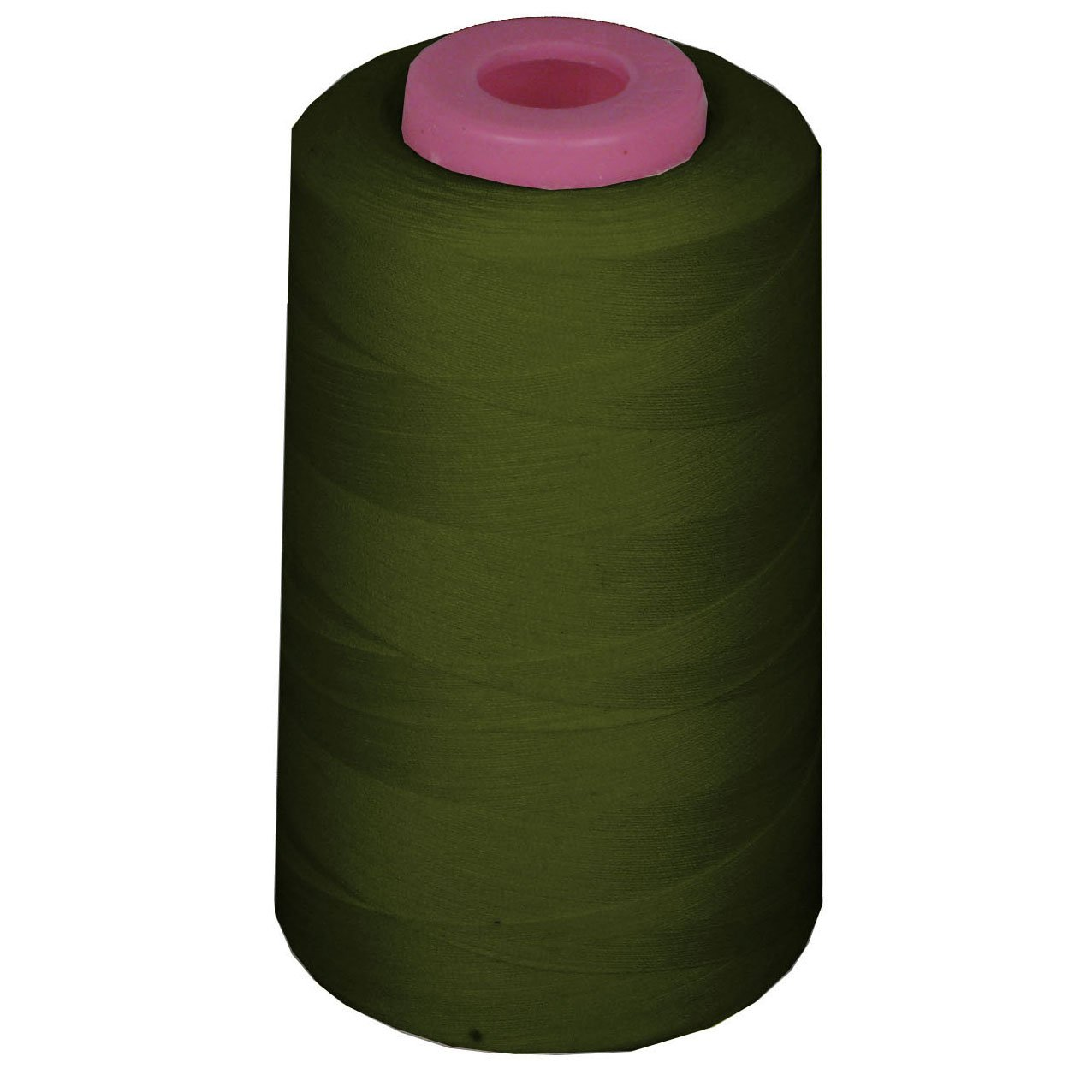 LA Linen Serger Cone Thread 100% Spool Polyester / 6000 Yards / Olive Green.