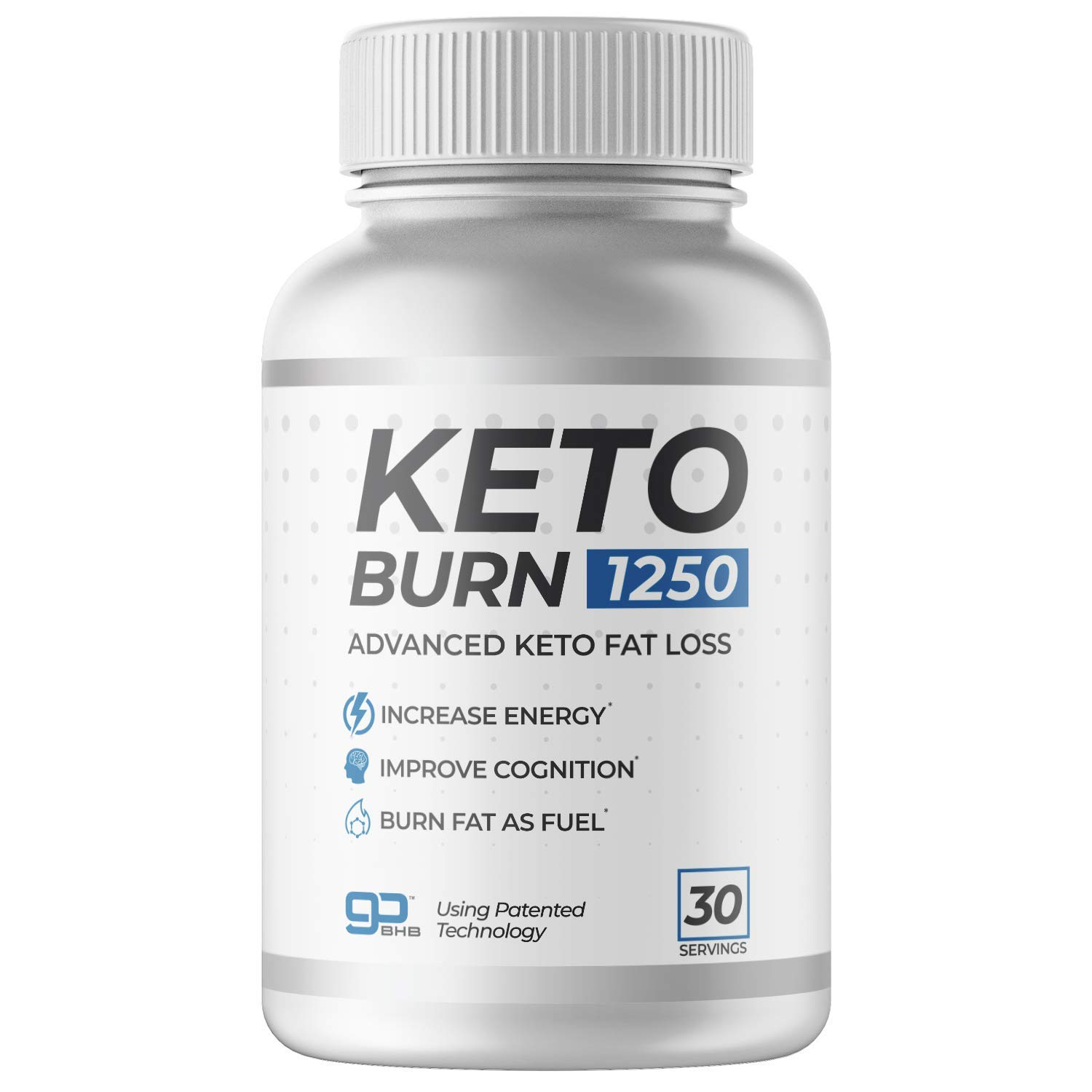 KETO BURN 1250-30 Servings The ONLY Keto Pill That Uses Patented Fat Loss Technology!