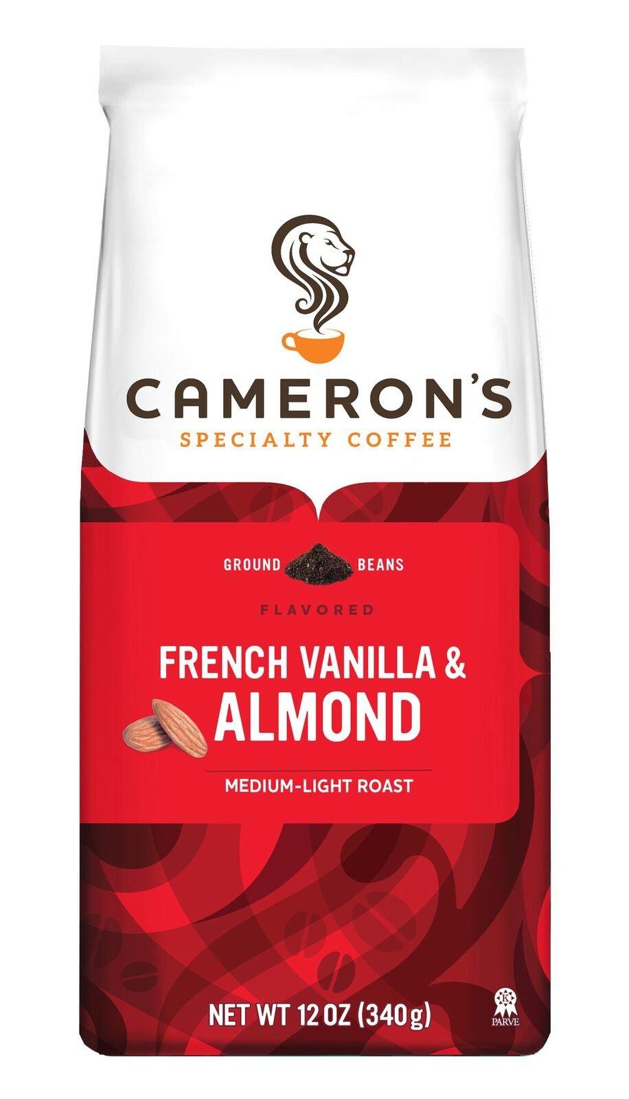 Cameron's Coffee French Vanilla Almond, 12 Ounce Bag