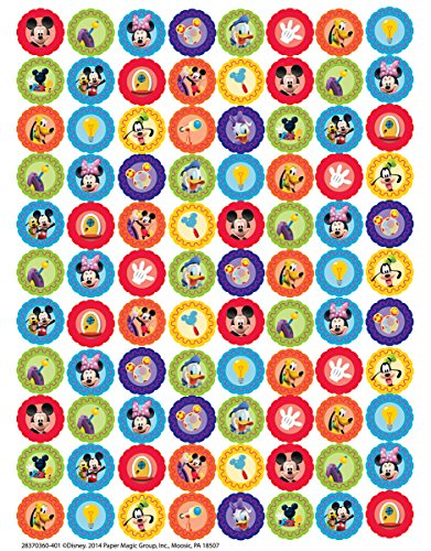 Eureka Back to School Classroom Supplies Mickey Mouse Clubhouse Mini Sticker Book, 704 pcs -