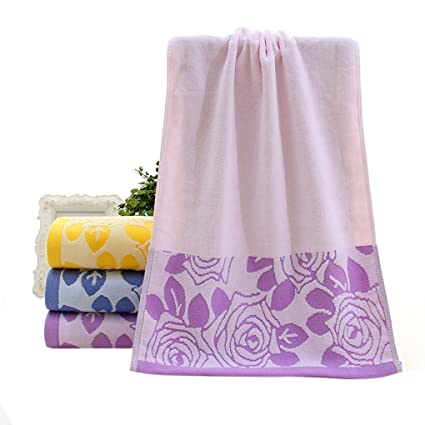 m-egal Cut Pile algodón rosa flores cara playa toalla de baño absorbente secado gamuza