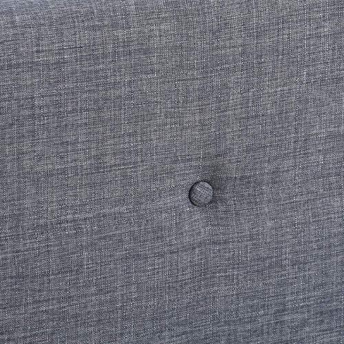 IDMarket Lit Double scandinave Oslo 140x190 cm Tissu Gris