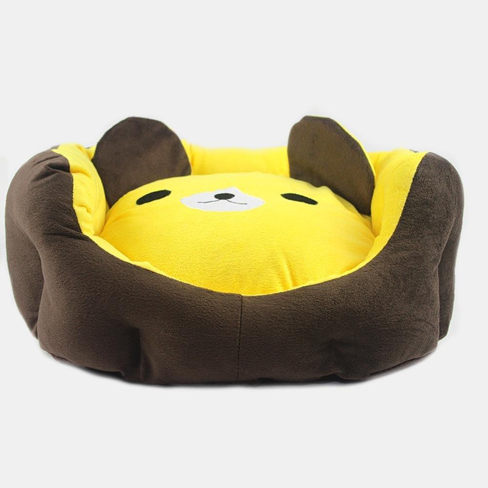 Dixinla Pet Bed Cloth Type Cartoon Bear Head Kennel Cat Nest, 45cm40cm25cm