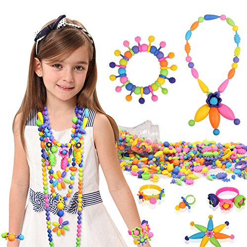 Tomons 300 Pcs Pop Snap Beads Set - Toy Pop Beads Jewelry Making Kit for Rings, Bracelets, Necklaces - Educational Beads for Girls, Toddlers, Kid by Tomons