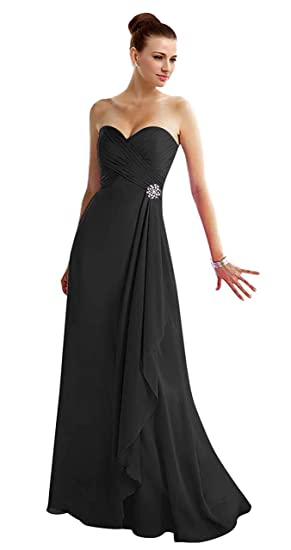 Thaliadress Womens Long Sweetheart Strapless Bridesmaid Dress Prom