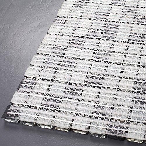 Hominter 5-Sheets Glass Marble Wall Tile, Grey and Black Rhinestone Backsplash for Kitchen, Silve Coating and Crackled Crystal Mosaic Bathroom Tiles KS66B by Hominter (Image #5)