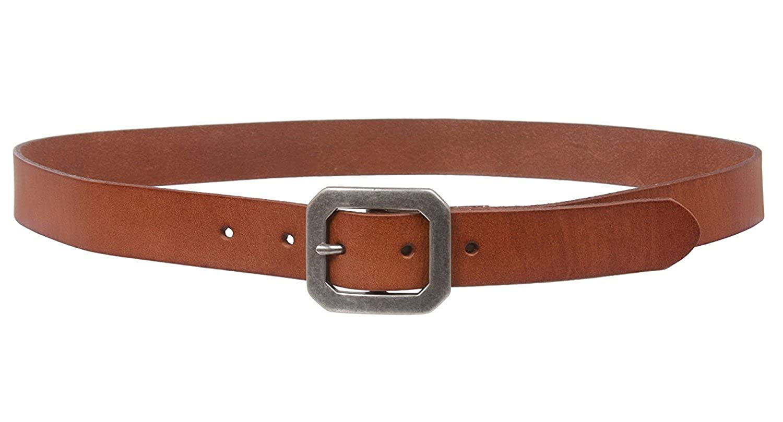 MONIQUE Men Stylish Oil Tanned Skinny Vintage Cowhide Leather Snap On 29mm Belt