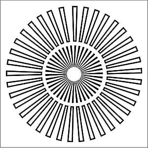 amazoncom crafters workshop sunburst template die 6