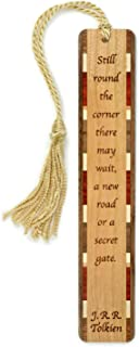 product image for J.R.R. Tolkien Quote - Secret Gate - Engraved Wooden Bookmark with Tassel - Search B0713NJGY4 for Personalized Version