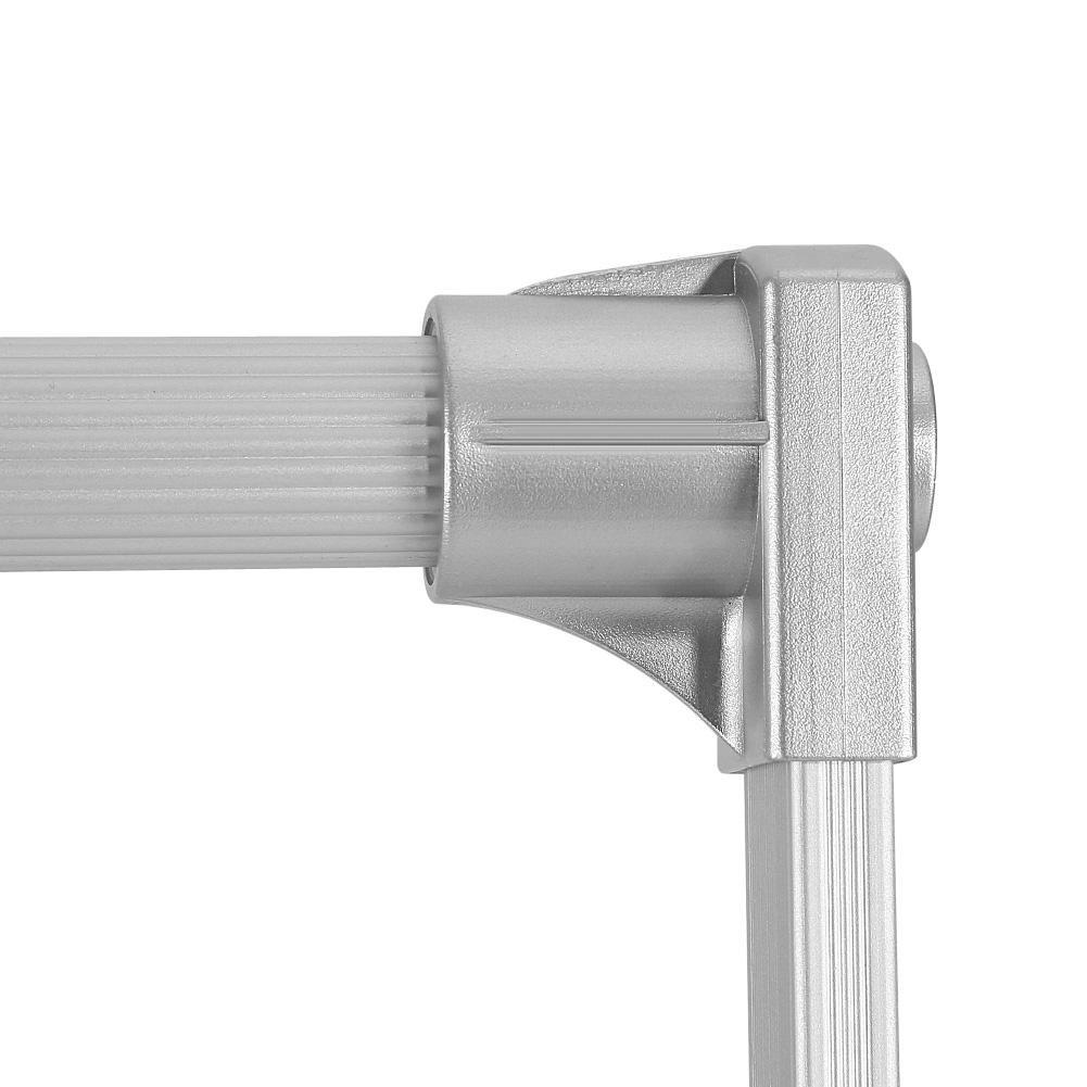 Argento Zoternen Appendiabito saliscendi per Armadio Largo Regolabile 830-1150mm 450-600mm in Alluminio