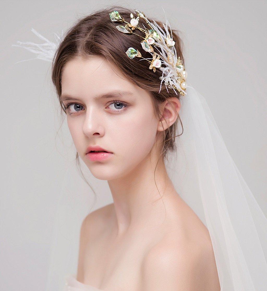 rosetas tocado, vestidos de sombrerería, Novia Adornos De Pelo ...