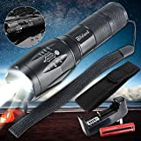 5000LM XML T6 Rainproof LED Flashlight Adjustable Focus Torch Light Torch Lamp 5 Modes +18650 Rechargeable Battery+Slot Charger