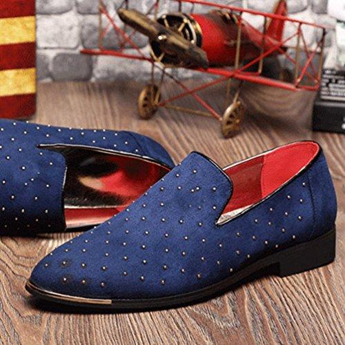 Scarpe Uomini Moda Mocassini Scarpe Blu Casual Maschio Mocassino 8fr6RcdFf