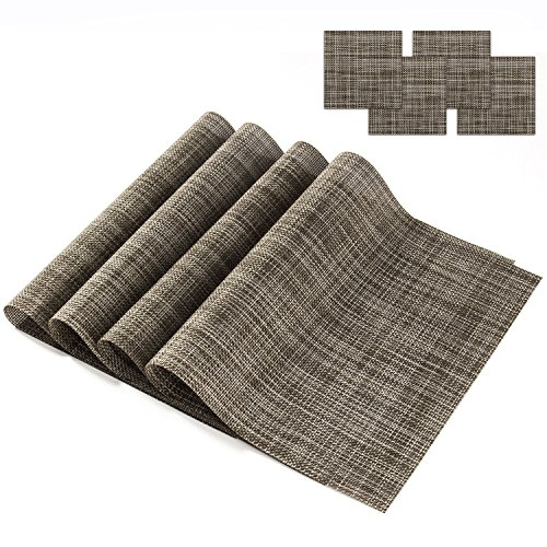 SHACOS Placemats with Cup Mats, Solid Color Kitchen Place Mats for Dining Table, Indoor/Outdoor  ...