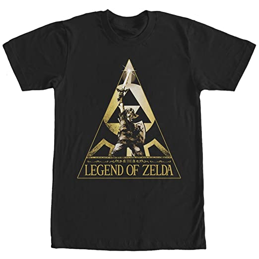 9fbc4a6f Amazon.com: Nintendo Men's Legend of Zelda Triangle T-Shirt Black ...