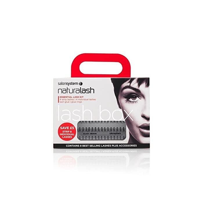 4fead0a15b6 Salon System Lash Box (Contains 8 Packs of Lashes + Adhesive): Amazon.co.uk:  Beauty