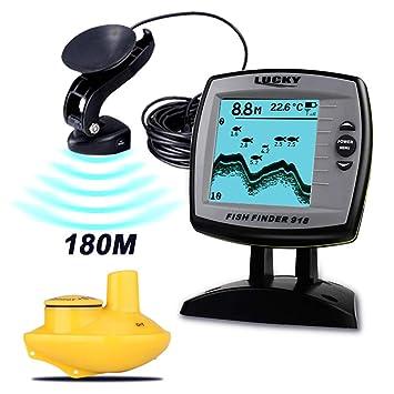 HL 2-en-1 buscador de Peces Monitor con Cable 180M y 45M ...