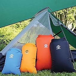 Aqua Quest Coastal Sunset 4-piece Dry Bag Set - 100% Waterproof - 5, 10, 20 & 30 L - Blue, Yellow, Black, Orange
