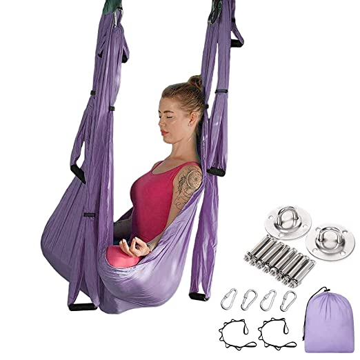 MQSS - Juego de Hamaca de Yoga antigravedad para Yoga ...