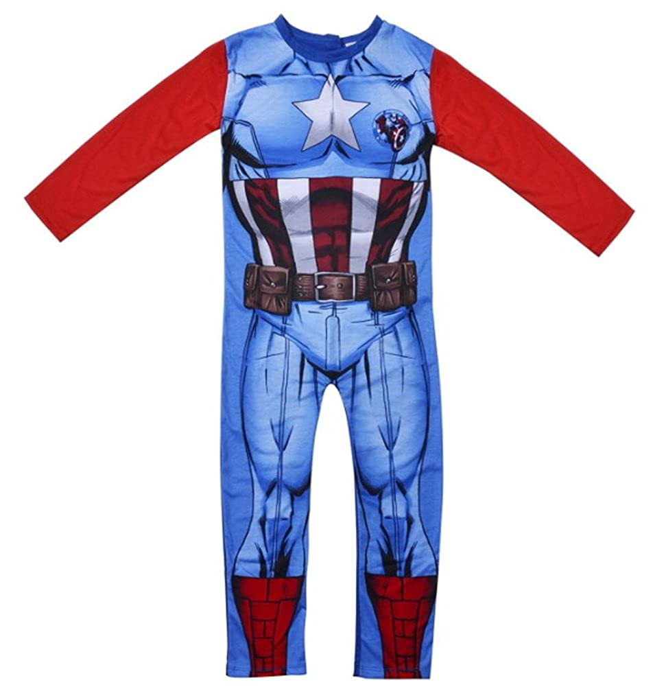 Tema Marvel Avengers Tutina notturna per neonati Capitan America