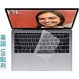MacBook Air 2018 13.3 インチ キーボードカバー Voviqi MacBook Air 2018 透明 防水 防塵カバー 清潔易い 英語 US配列 保護キーボード