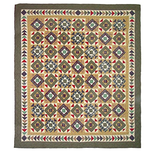 Patch Magic Queen Square Diamond Quilt, 85-Inch by (Patch Magic Square Diamond)