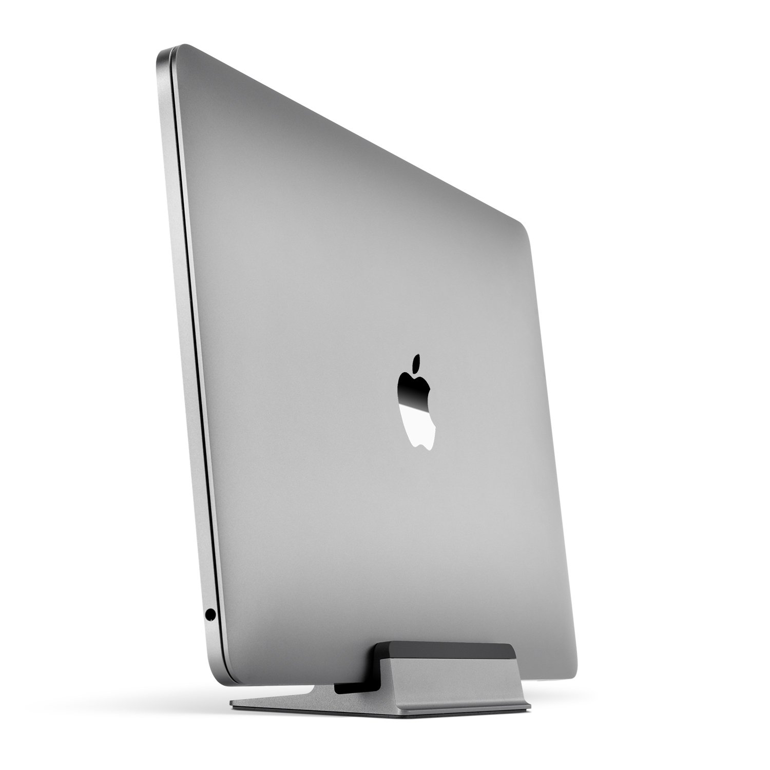 UPPERCASE KRADL Small Profile Space Saving Aluminum Vertical Stand for MacBook Pro 13'' or 15'' (2016 2017 2018 Releases) (Space Gray/Black)
