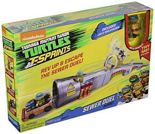 Teenage Mutant Ninja Turtles T-Sprints Sewer Duel with Leonardo in Shellraiser Play Set (Lego Teenage Mutant Ninja Turtles Toys R Us)
