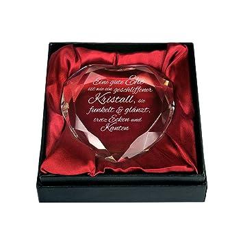 Gravado Kristall Aus Glas In Herzform Mit Gravur Zur Hochzeit Gute