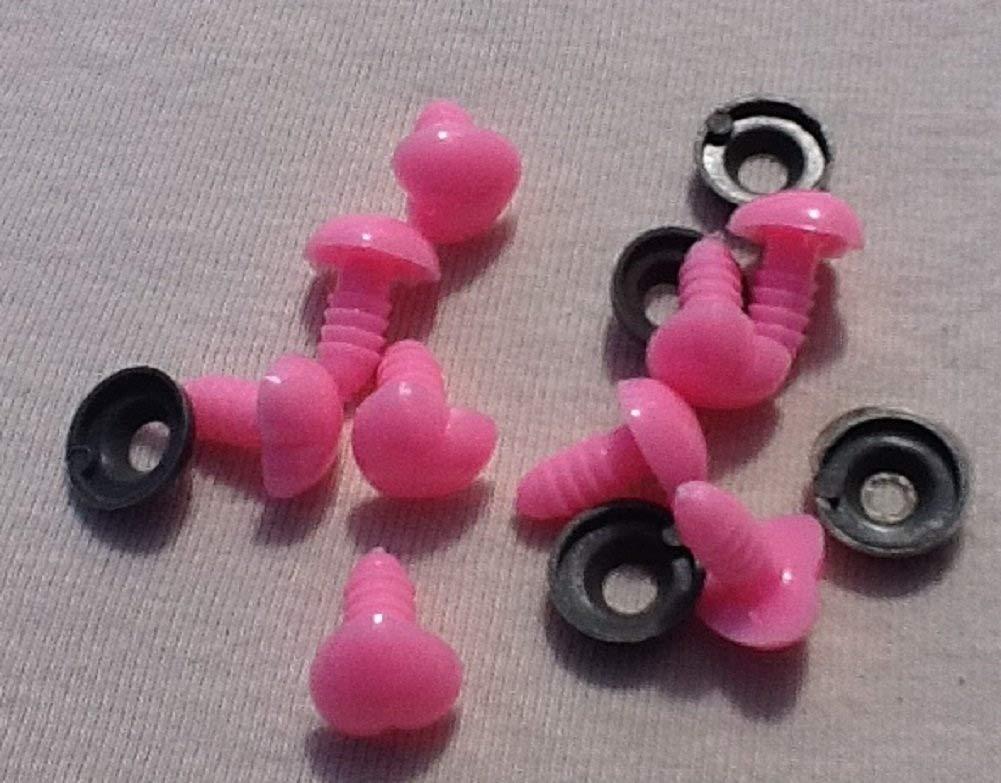 12/mm di diametro 20/cuore rosa occhi di sicurezza 10/paia