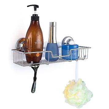 SANNO Badezimmer Dusche Caddy Bad Regal Aufbewahrung Organizer, kein ...