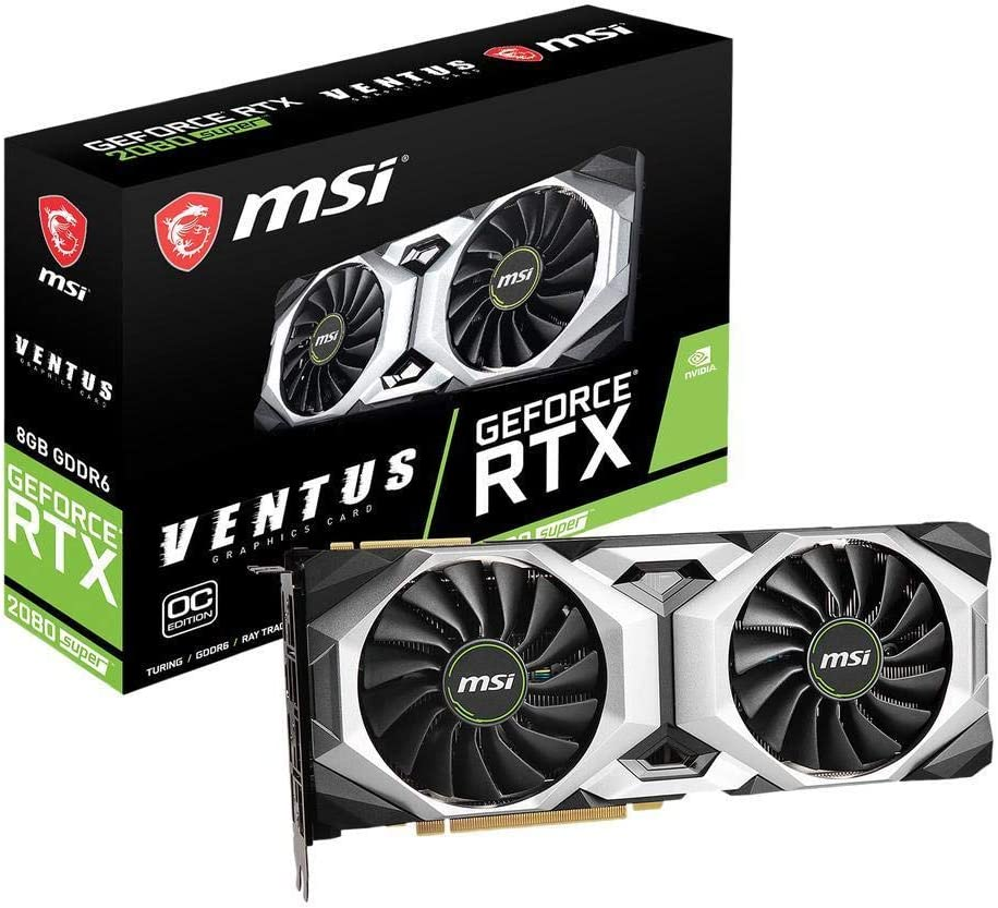 MSI Gaming GeForce RTX 2080 Super 8GB GDRR6 256-Bit HDMI/DP Nvlink Torx Fan Turing Architecture Overclocked Graphics Card (RTX 2080 Super Ventus OC)