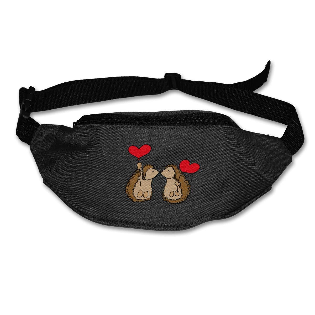 Cute Hedgehog Love Sport Waist Packs Fanny Pack Adjustable For Run