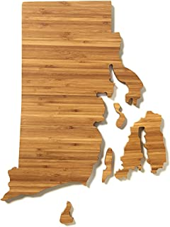 product image for AHeirloom: The Original Rhode Island State Shaped Serving & Cutting Board. (As Seen in O Magazine, Good Morning America, Real Simple, Brides, Knot.) Made in the USA from Organic Bamboo, Large 15""