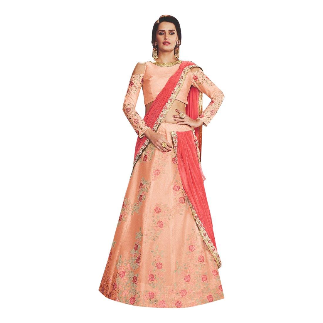 New Arrival Wedding Bollywood Designer Stylish Lehenga Choli Dupatta Custom to Measure Muslim Eid 2521 by ETHNIC EMPORIUM (Image #1)