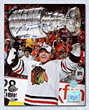 Marian Hossa Chicago Blackhawks Signed & Inscribed 2010 Stanley Cup 8x10 P