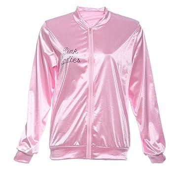 YTWSKCXP Pink Lady Retro Chaqueta para Mujer Disfraces ...
