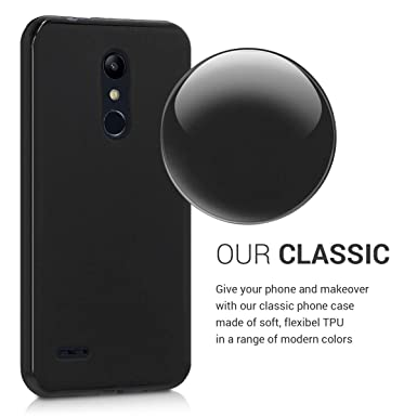 kwmobile TPU Silicone Case for LG K11 / K11+ - Soft Flexible Shock Absorbent Protective Phone Cover - Black Matte