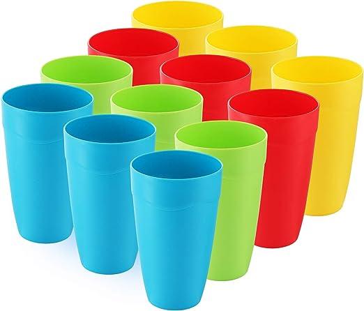 Amazon.com: Juego de 12 vasos de plástico para niños – tazas ...