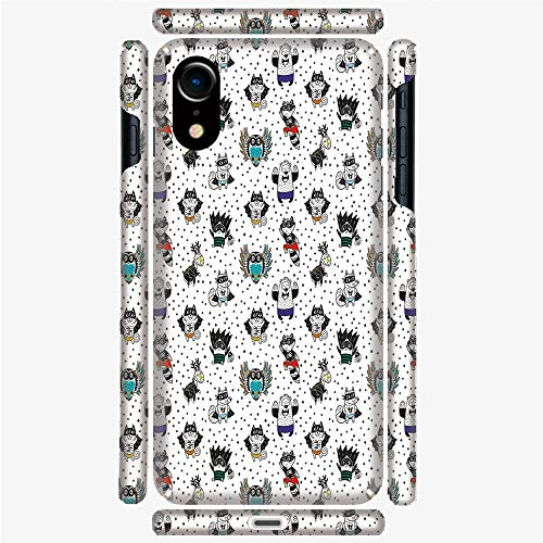 Phone Case Compatible with 3D Printed iPhone X/XS DIY Fashion Picture,Cat Penguin Raccoon Bear in Superhero Costumes,Personalized Designed Hard Plastic Cell Phone Back Cover Shell -