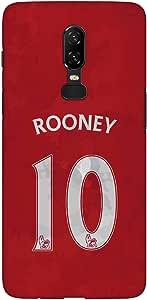 Stylizedd OnePlus 6 Slim Snap Basic Case Cover Matte Finish - Rooney Jersey