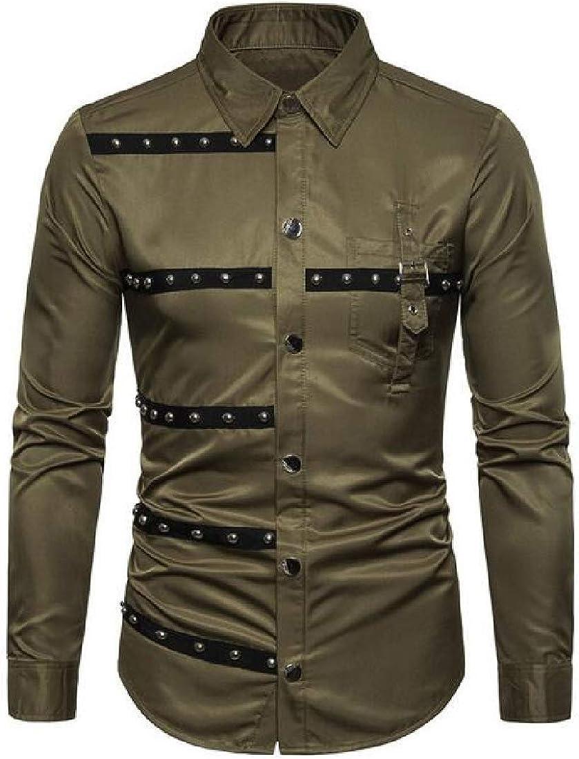 Fubotevic Mens Cotton Linen Long Sleeve Floral Print Button Up Dress Shirts