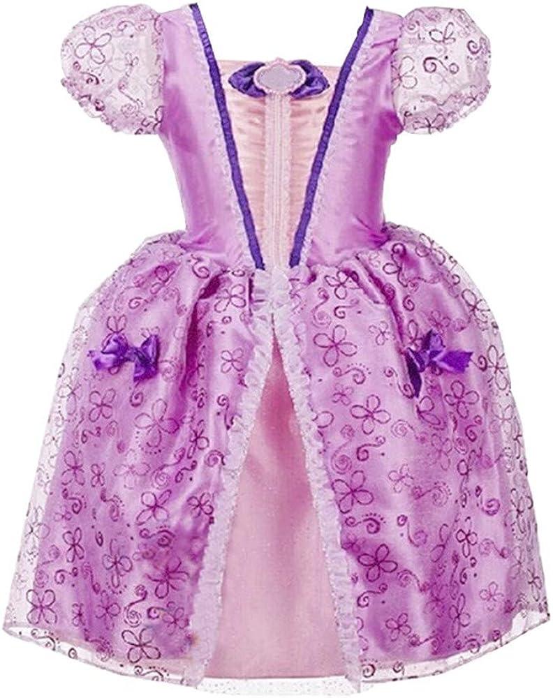 Haoheyou 2020 Nuevo Disfraces De Princesa Rapunzel para NiñAs ...
