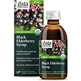 Gaia Herbs Black Elderberry Syrup - Daily Immune Support with Antioxidants, Organic Sambucus Elderberry Supplement, 5.4 Fl Oz