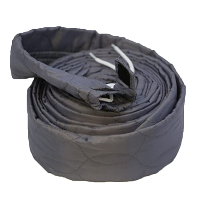 Qualtex 30 Ft Grey Quilted Padded Hose Cover with Zipper for All Central Vacuum Cleaners - Also Fits VACSOCK, VACUFLO, ELECTROLUX, Aerus, Allegro, Beam, VACSOC Vacuum Cleaners & More 9 Metres