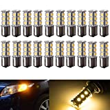 AUTOUS90 20-Pack 1157 2057 2357 7528 BAY15D 18-SMD LED Bulbs For Turn Tail Signal Brake Light Lamp White