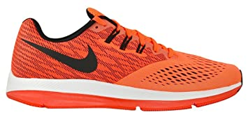 NIKE Air Zoom Winflo 4 Running Shoes Hyper Orange/Black/Track Red/White Size 10 M