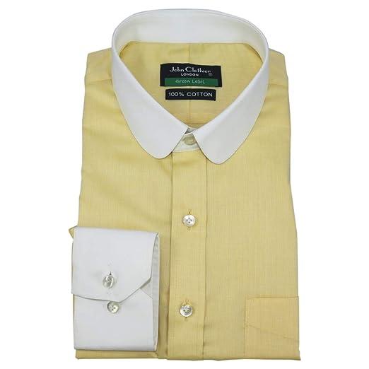 ac77c3455bbfc WhitePilotShirts Penny Collar Mens Bankers Shirt Yellow Egg Checks ...