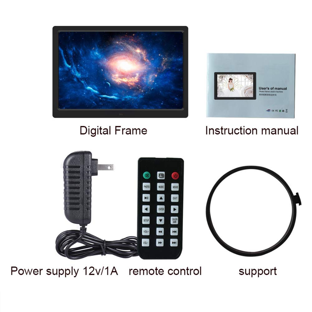 14 HD 1280800 Digital Picture Frame,USB/SD Card Playback Video ...